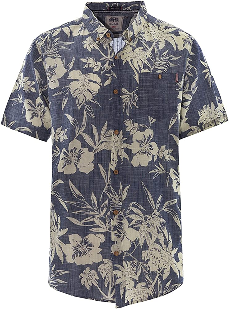Brave Soul - Camisa Casual - Camisa - Floral - con Botones - para ...