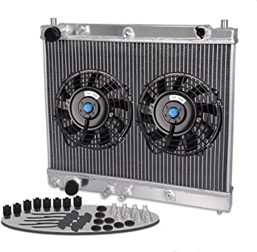 2 Row Aluminum Radiator Fit For  2004 Pontiac GTO 5.7L V8 Fans