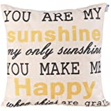 Happytimelol 18 x 18 Standard Size Cotton Linen Throw Pillow Case Cover with Quote Print