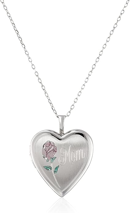 Large Silver Heart Shaped Locket Pendant 925 Sterling Silver 30mm Height