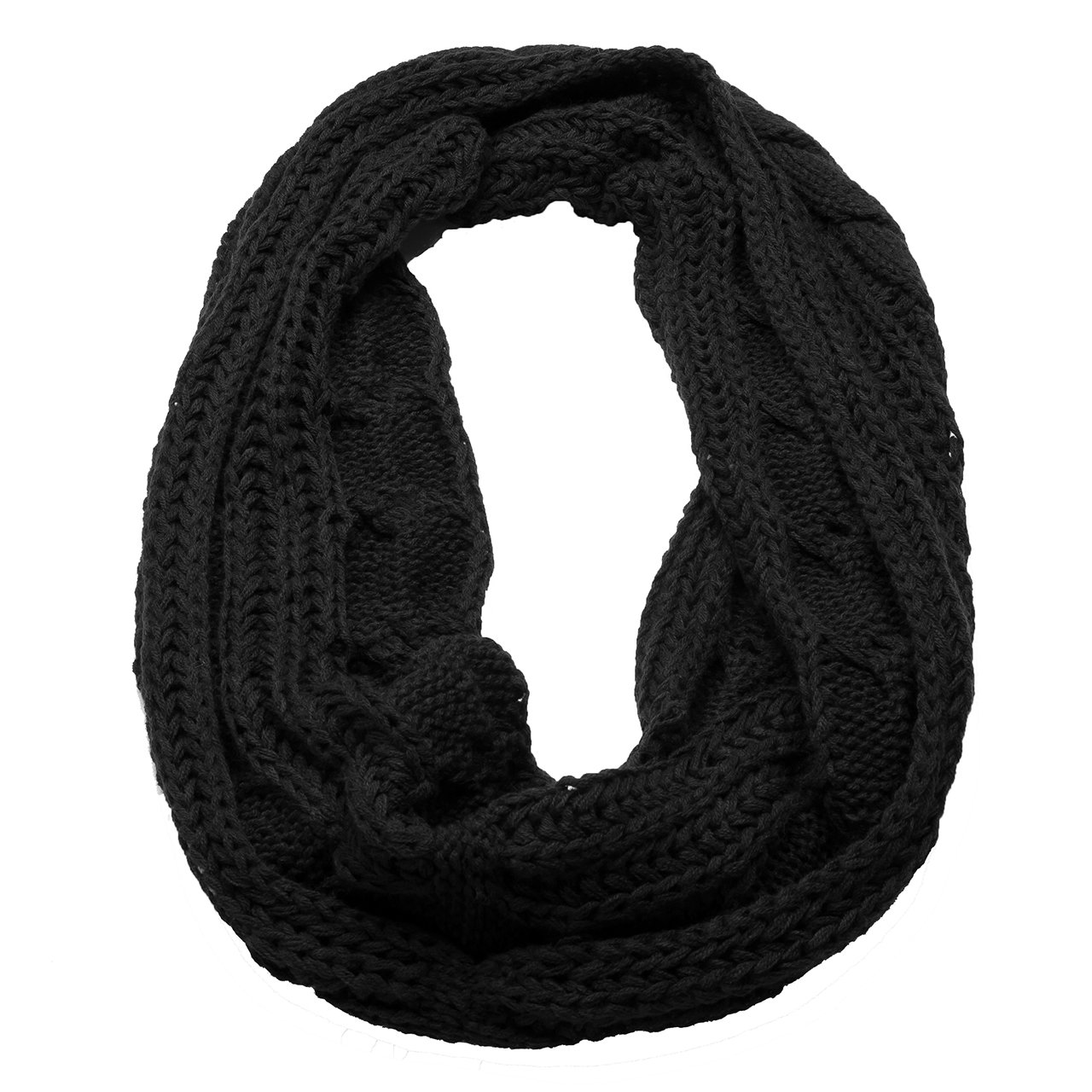 Atmoko Echarpe Cercle en Tricot a Crochet Twist Foulard Tricote Hiver  Automne Printemps a la Mode pour Femme Fille Homme Garçon, Cadeaux Noel  pour ... 096225b3867