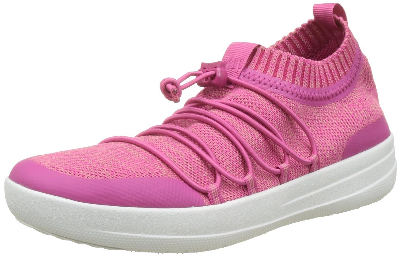 Fitflop Uberknit Slip-on Ghillie Sneakers, Zapatillas Altas para Mujer 38 EU|Multicolour (Fuchsia/Dusky Pink)