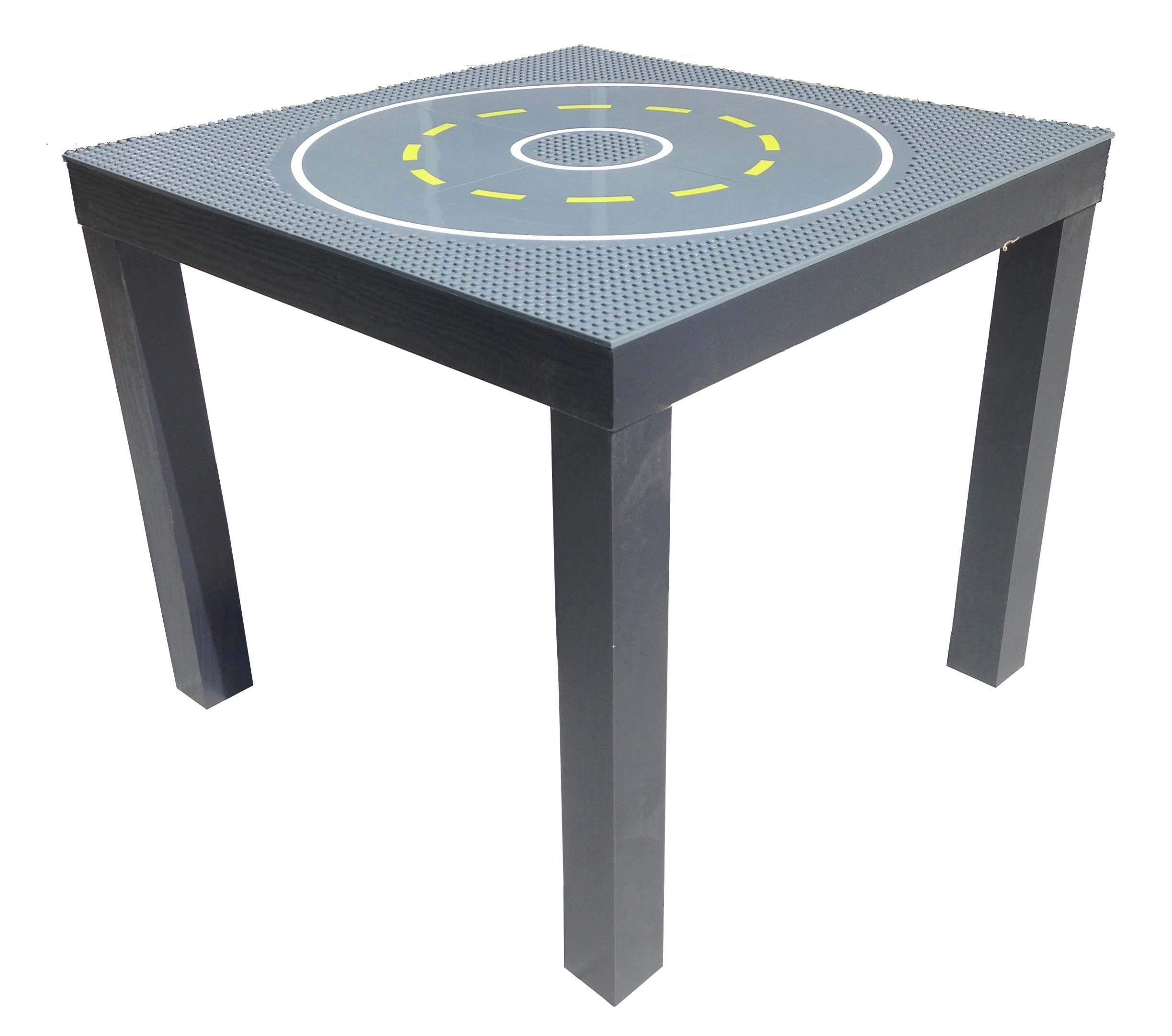 SleekSquare Building Activity Play Table Compatible with Lego, Mega Blok and Kre-O (Road)