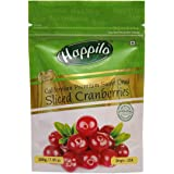 Happilo Premium Californian  Dried and Sweet Sliced Cranberries, 200g