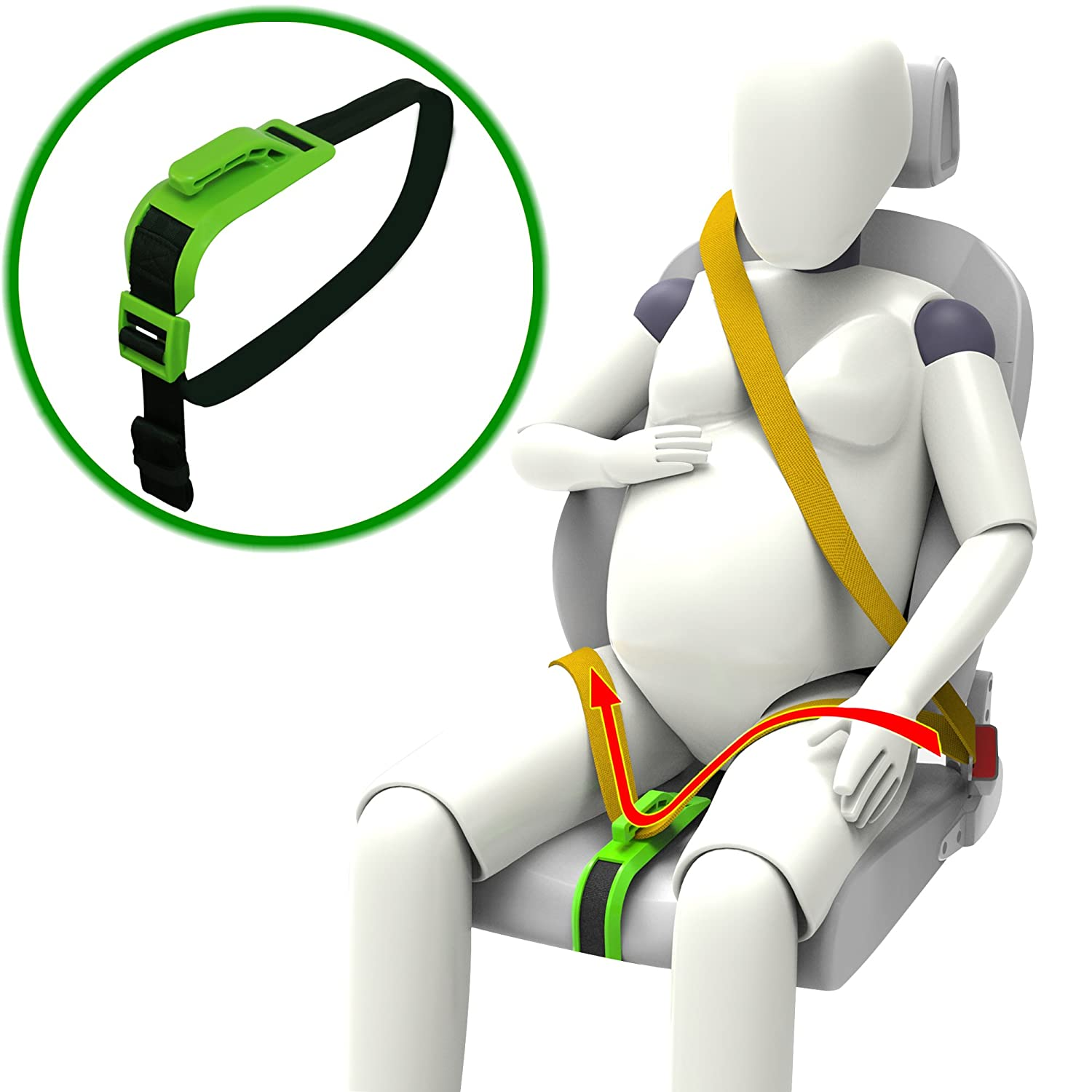 Green Protect Unborn Baby ZUWIT Maternity Car Belt Adjuster Comfort /& Safety for Pregnant Moms Belly a Must-Have for Expectant Mothers