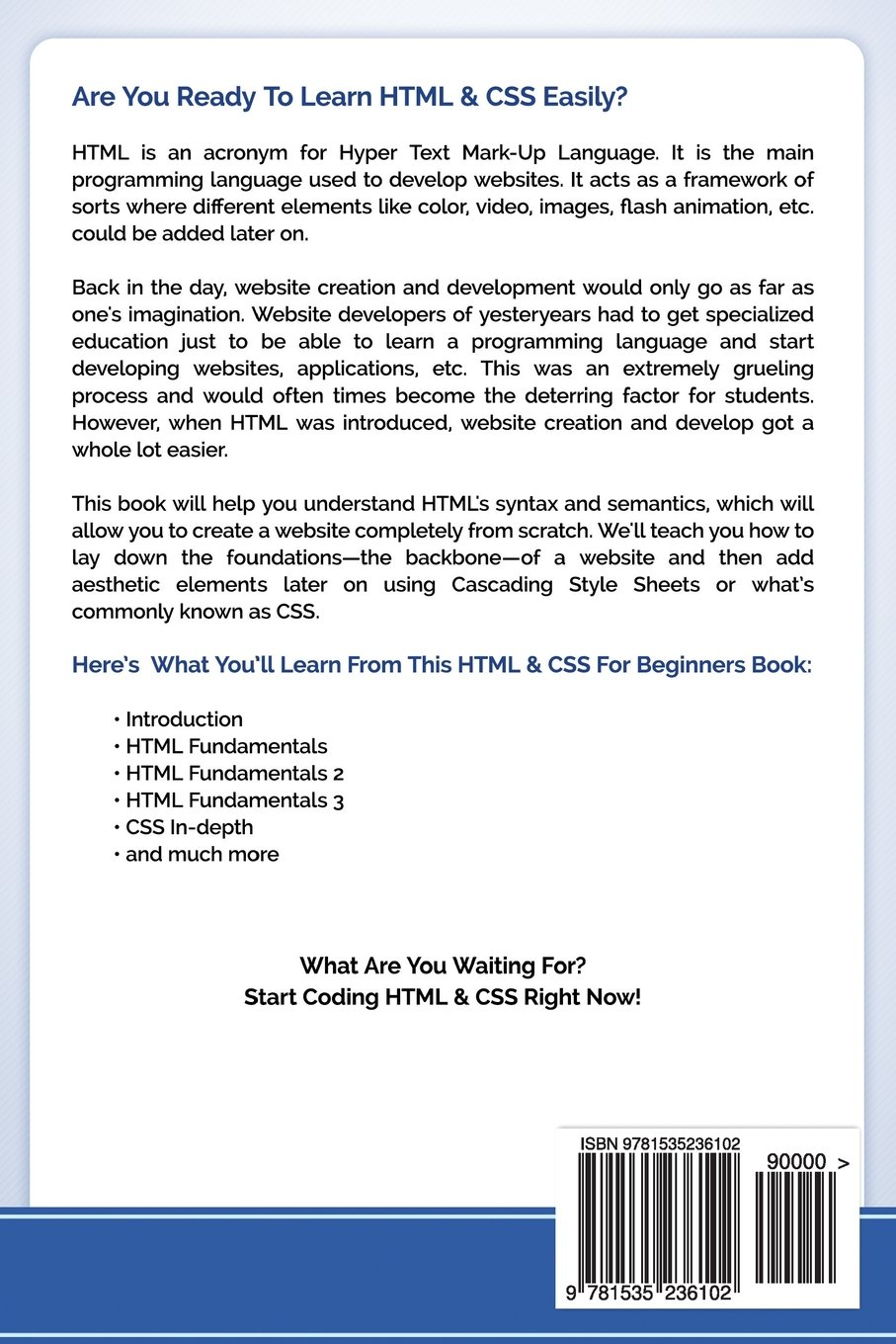 Html css for beginners your step by step guide to easily html css programming in 7 days icode academy 9781535236102 amazon com books