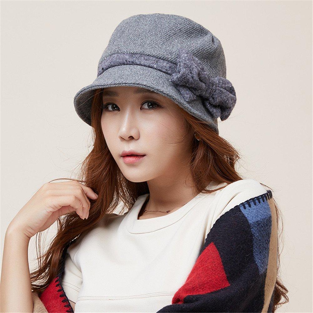 Las mujeres caen moda moda niños tapa todo-match invierno mujer 2 pescador hat,Tamaño (54-58cm), gri...