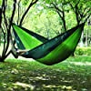 Yomodo Backpacking Hammock-Double Parachute Hammock for Backyard, Camping, Travel,Porch, Outdoor and Indoor Use-Lightweight Nylon Portable Hammock (Green)