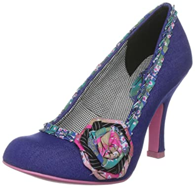 Ruby Shoo Women s Garland 1 Denim Special Occasion Heels 07989 7 UK ... a8f036a9aba5