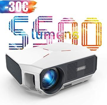 Proyector, 5500 Lúmenes Proyector Full HD Soporta 1920 x 1080P ...