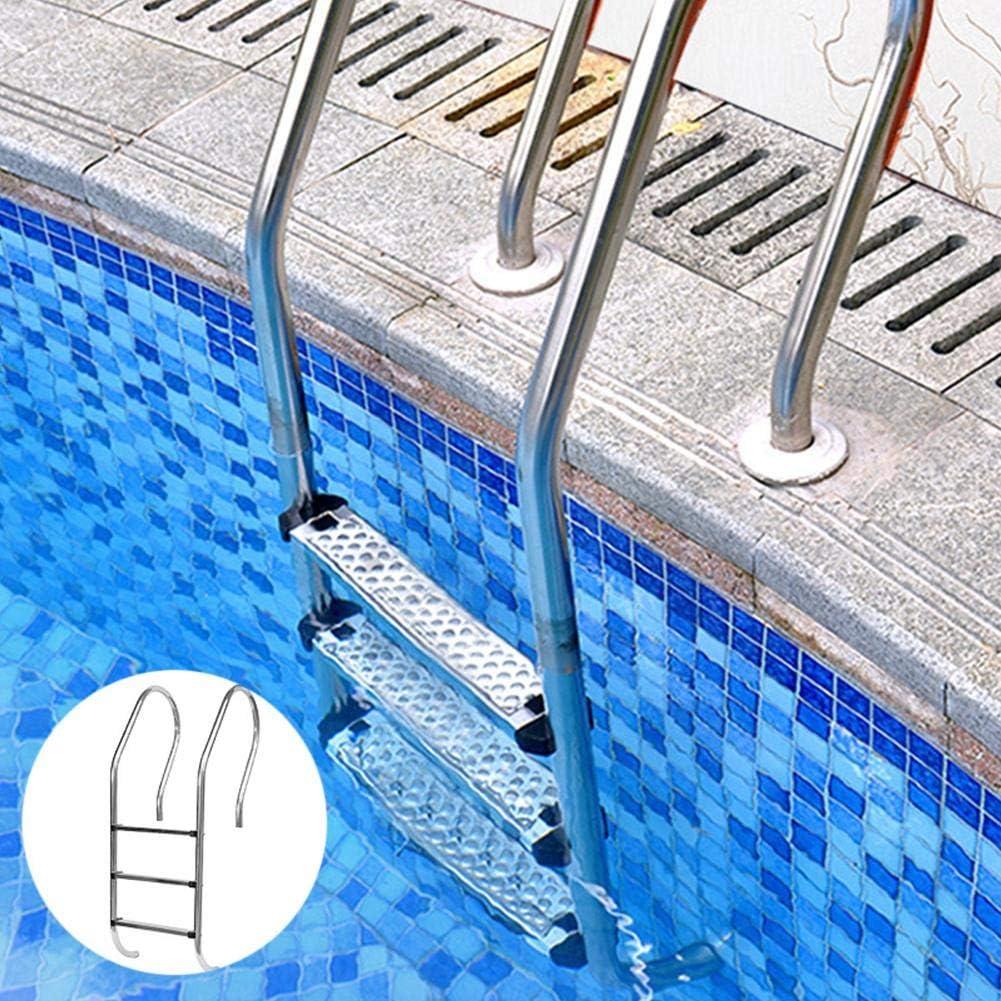 libelyef Escaleras De Piscina Escalera De Repuesto Antideslizante De Acero Inoxidable Pasos De Peldaño Pasos Antideslizantes Pedal para Paredes De Piscina-50 7.5 2.5 Cm, 1 Piezas: Amazon.es: Deportes y aire libre