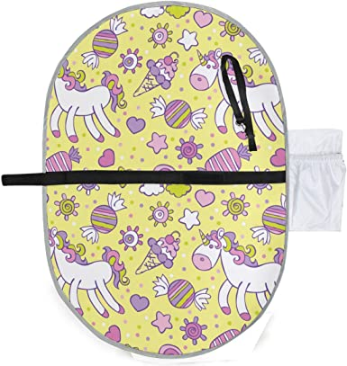 Diaper Bag Mat Stroller Strap,Side Pocket for Wipes Diaper| for Infants /& Newborns Waterproof Baby Changing Pad Portable Diaper Changing Pad Foldable Travel Changing Station