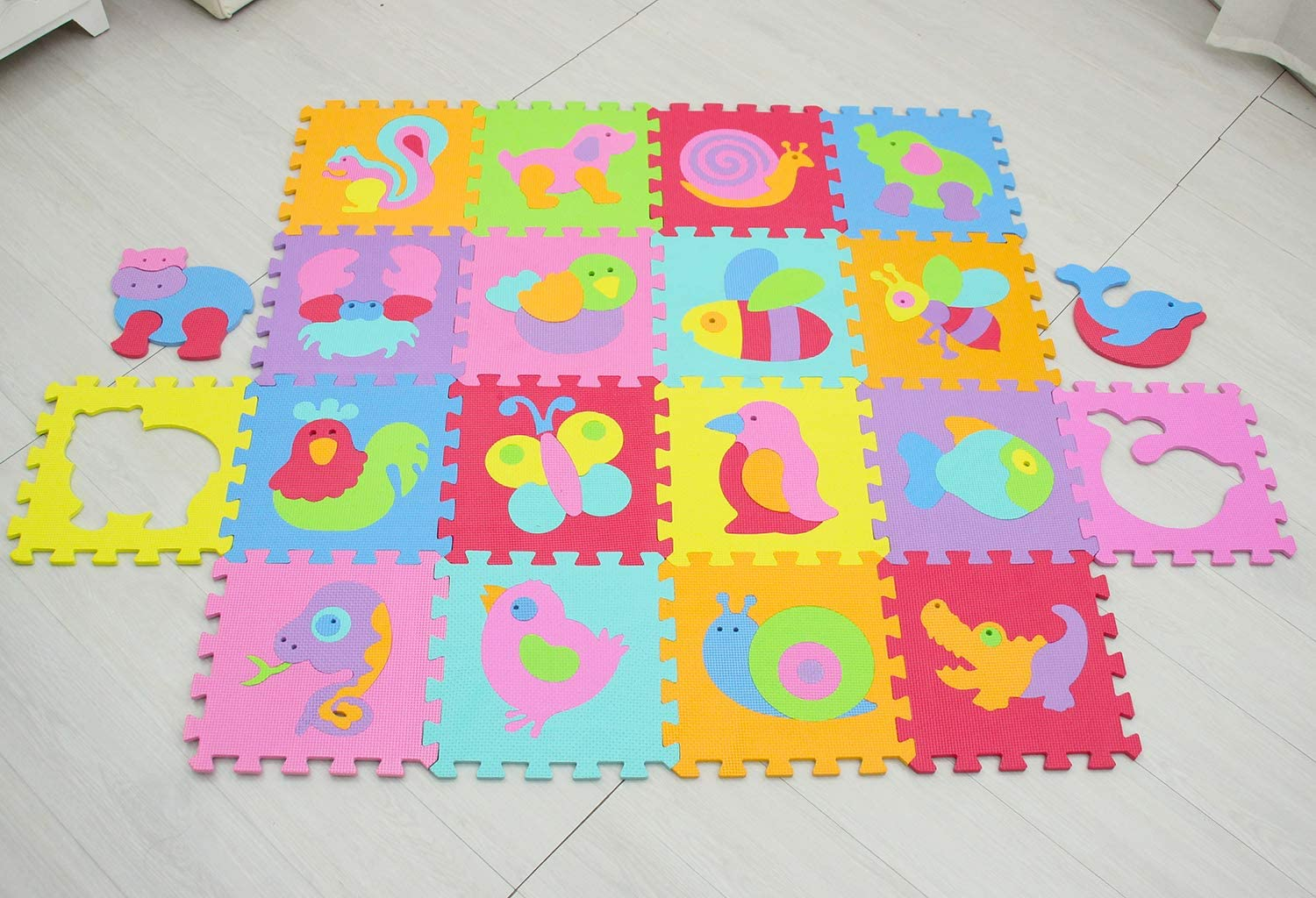 MSHEN Baby Play Mats|Foam Play Mat Tiles|Jigsaw Puzzle Interlocking Floor for Children,Kids and Toddlers|Gym Exercise and Crawling EVA Saft mat 0100143009