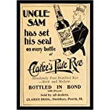 8 x 10 Photo Print Uncle Sam Rye Whiskey Whisky Vintage Old Advertising Campaign Ads