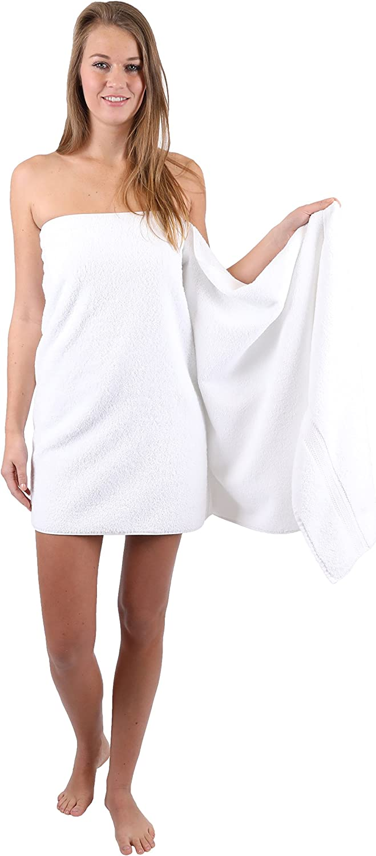 Betz 2 asciugamani da sauna teli da sauna PREMIUM misure 70x200 cm 100/% cotone Colore rosa antico