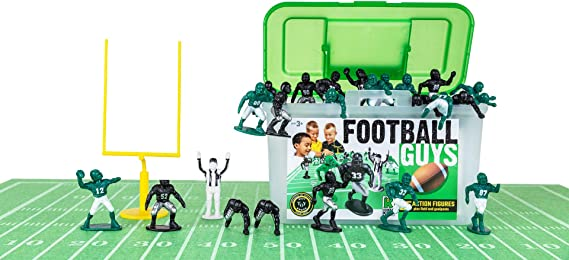 Kaskey Kids Football Guys – Green/Black Inspires Kids Imaginations with Endless Hours of Creative