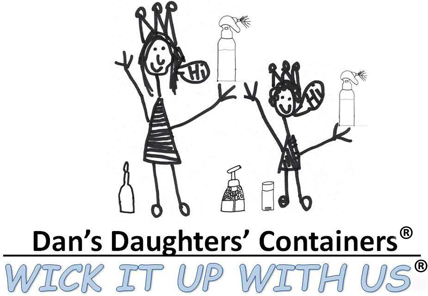 Dans Daughters Containers 3//8 x Five Feet Wick It Up with US Round Fiberglass Wick Kerosene Oil Lamps Lanterns Replacement Wicks Torch Wine Bottle Candle 38