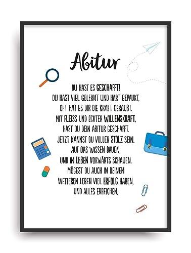 Geschenk Karte Abitur Kunstdruck Abi 2018 Schule Abschluss Prufung