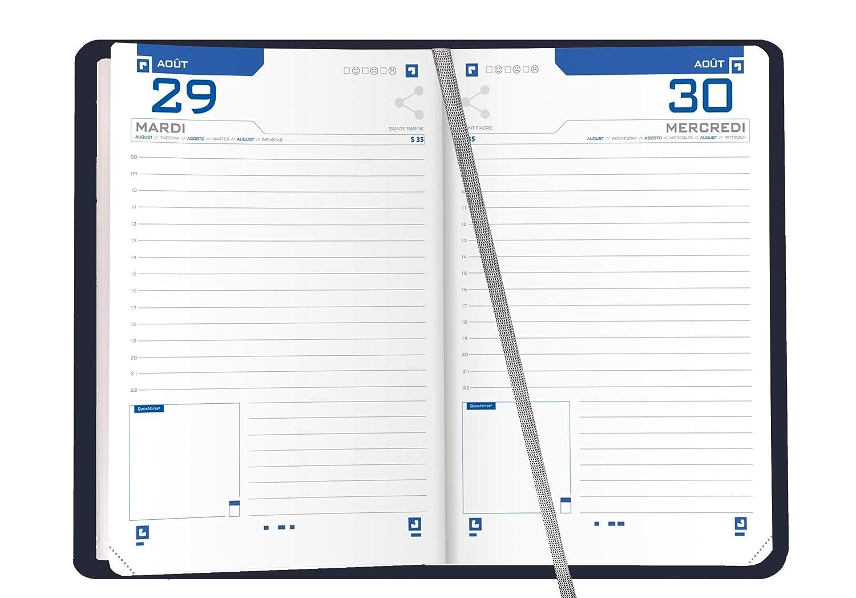 OXFORD 100738283 Spirit Agenda Scolaire journalier 2019-2020 1 Jour par Page 352 pages 12x18 fuchsia
