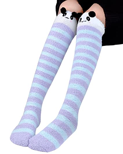 9bfc7fc7b3acc Image Unavailable. Image not available for. Color: Fascigirl Over the Knee  Socks Leg Warmers Thigh High Fuzzy Socks for Girls