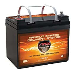 VMAXTANKS Vmax857 Tm AGM 12V 35AH Group U1 Marine Deep Cycle Hi Battery