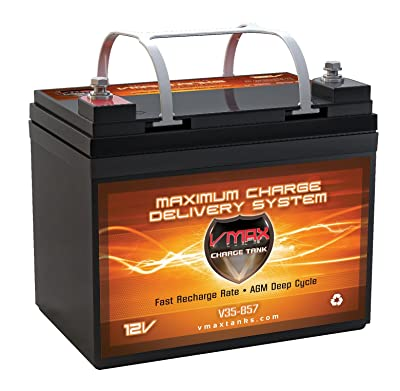 VMAXTANKS Vmax857 Tm AGM 12 Volt 35AH Group U1 Marine Deep Cycle Hi Battery