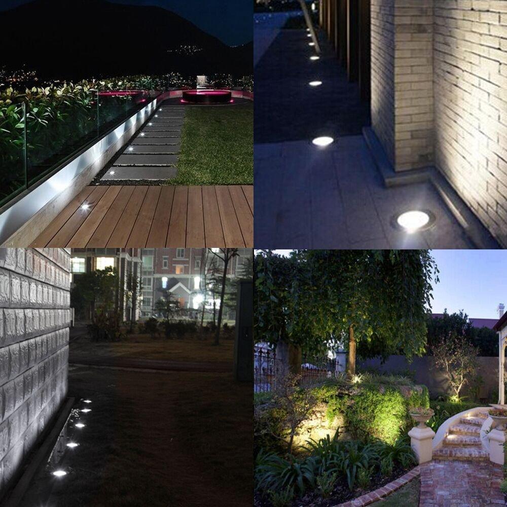 Spot Encastr/é au Sol LED 230V Spot Encastrable Spots LED Encastrable Ext/érieur IP67 3W Blanc Naturel // Rond