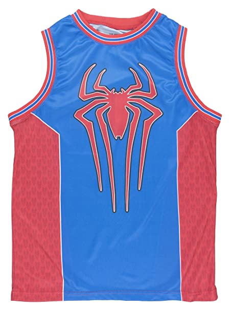 a80ae93da034 Amazing Spider-Man Mens Mesh Basketball Jersey in Red