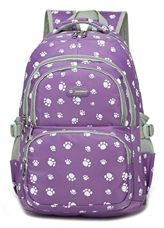 e060a7033fc463 Girls Backpacks for Elementary School Bags for Kids Kindergarten 17 18 Inch  Large waterproof (Purple