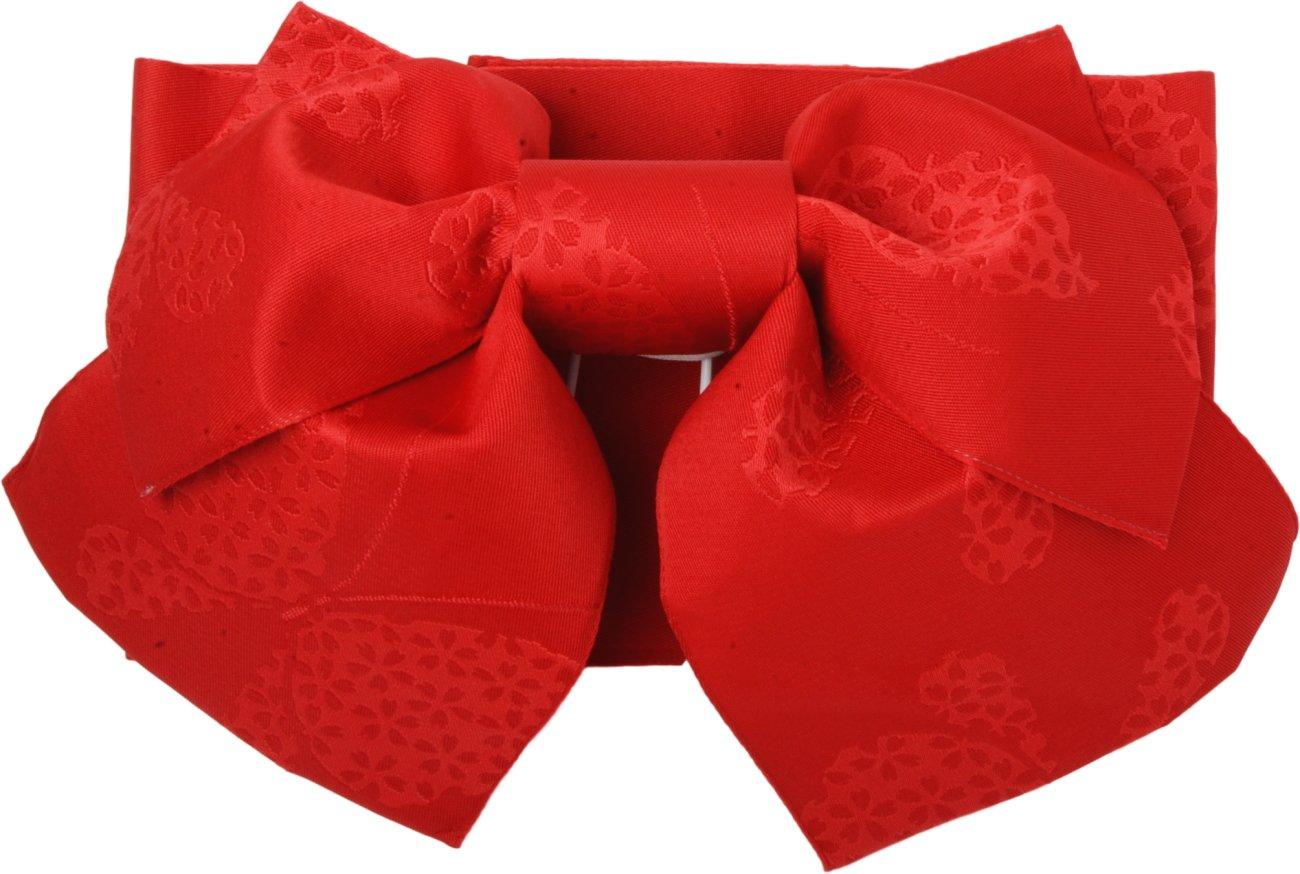 sakura Traditional Japanese Pre tied obi belt for women Yukata Kimono with Red sakura pattern
