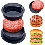 YEVIOR Burger Press,Different Sizes Hamburger Patty Maker,3 in1 Nonstick Patty Molds,Works Best for Stuffed Burgers,Perfect S