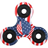 EVERMARKET New Style Premium Tri-Spinner Fidget Toy With Premium Hybrid Ceramic Bearing - American Flag