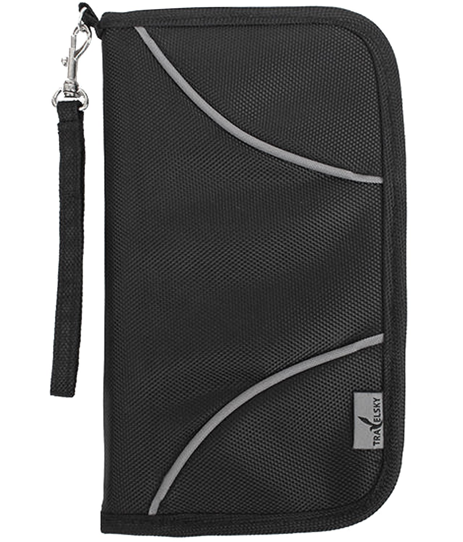 53da24fc7b52 Amazon.co.jp iHappiness パスポートケース ホルダー RFID スキミング防止 トラベル オーガナイザー 大容量 16ポケット  防水 航空券対応 iPhone Plus収納可 全4色 ...