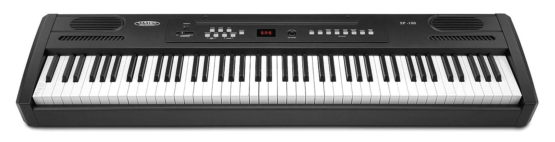 Classic Cantabile SP de 100Stage Piano (portables S de piano, pedal de sostenido, martillo mecanismo, 88teclas, conector de auriculares, función de grabación), color negro SP-100
