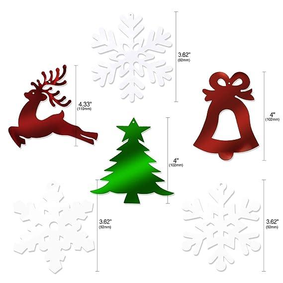 Howaf 30 Piezas Navidad Colgar Decoraciones de Remolino spirales Guirnalda para Navidad de Fiesta Decoraciones hogar Techo, Árbol de Navidad Campana Reno ...