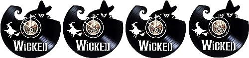 Wood Workshop Wicked Broadway Vinyl Record Wall Clock