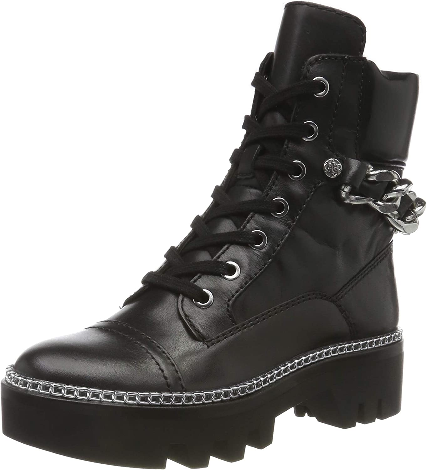 Guess Domain/Stivaletto (Bootie)/Lea, Botas Militares para Mujer