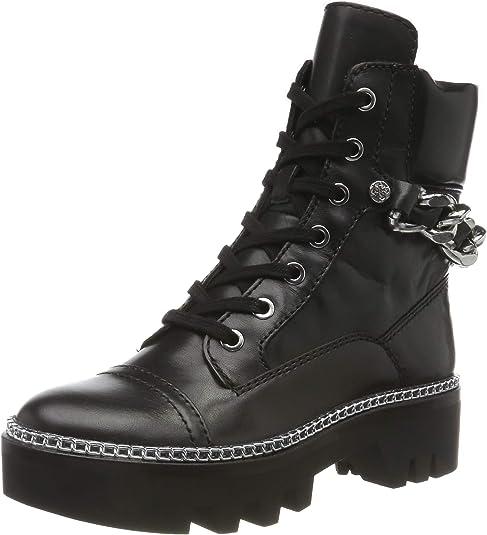lea Combat Boots, Black (Black Black