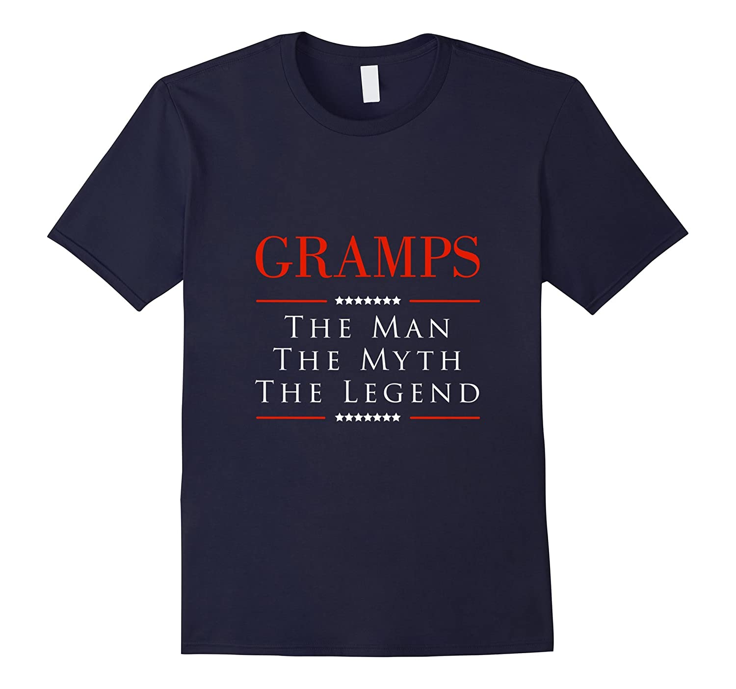 GRAMPS The Man The Myth The Legend Gift for Gramps Tshirt-TH