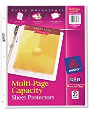Avery 74171 Multi-Page Top-Load Sheet Protectors, Heavy Gauge, Letter, Clear (Pack of 25)