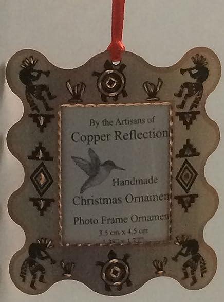 southwestern kokopelli and turtle christmas tree ornaments photo frame copper metal