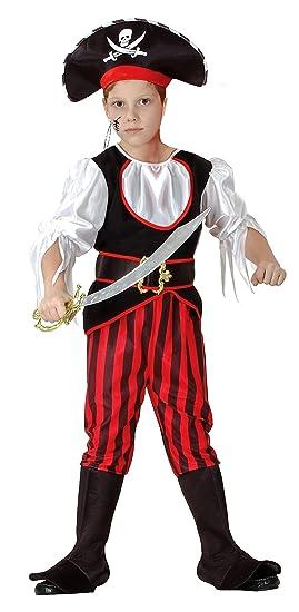 Capitán Pirata - Piratas Disfraz infantil niño rojo de Negro de ...