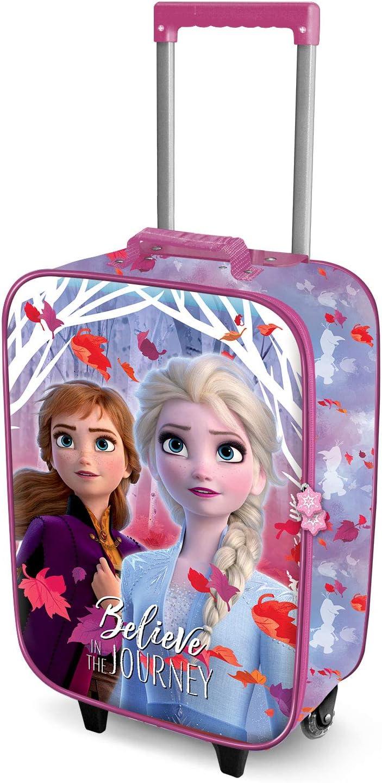 Karactermania Frozen Believe - Maleta Trolley Soft 3D, Multicolor