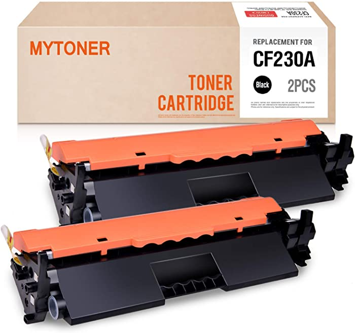 MYTONER Compatible Toner Cartridge Replacement for HP 30A CF230A for HP Laserjet Pro MFP M227fdw M203dw M227fdn M203d M203dn M227sdn Printer (Black, 2 Pack)
