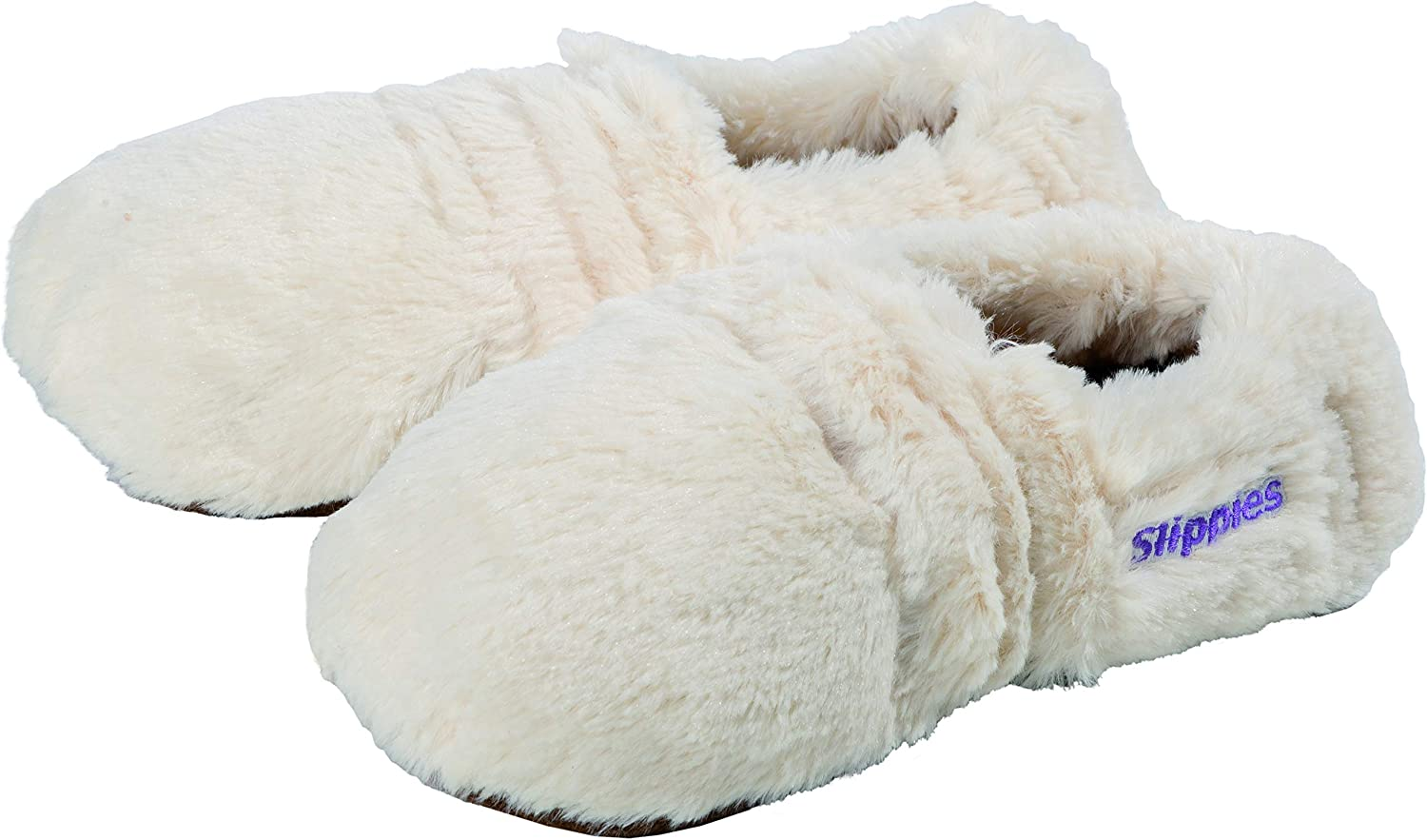 Fußwärmer Lavendel-Korn-Mix Slippies Creme Plush Größe M (37-40 ...