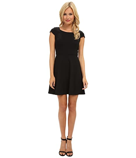 Amazon French Connection Whisper Ruth Cap Sleeve Dress Black