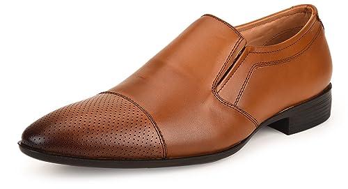 154fc3fd059b8 Amazon.com   Escaro New York Genuine Leather Formal Slip-on Shoes ...