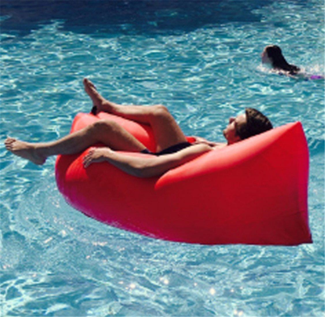 Yeying123 Aufblasbares Sofa-Im Freien Tragbare Luft-Sofa-Taschen-Aufblasbare Blatt-Freizeit-Schnelles Aufblasbares Bett-Liege-Strand-Sofa,2
