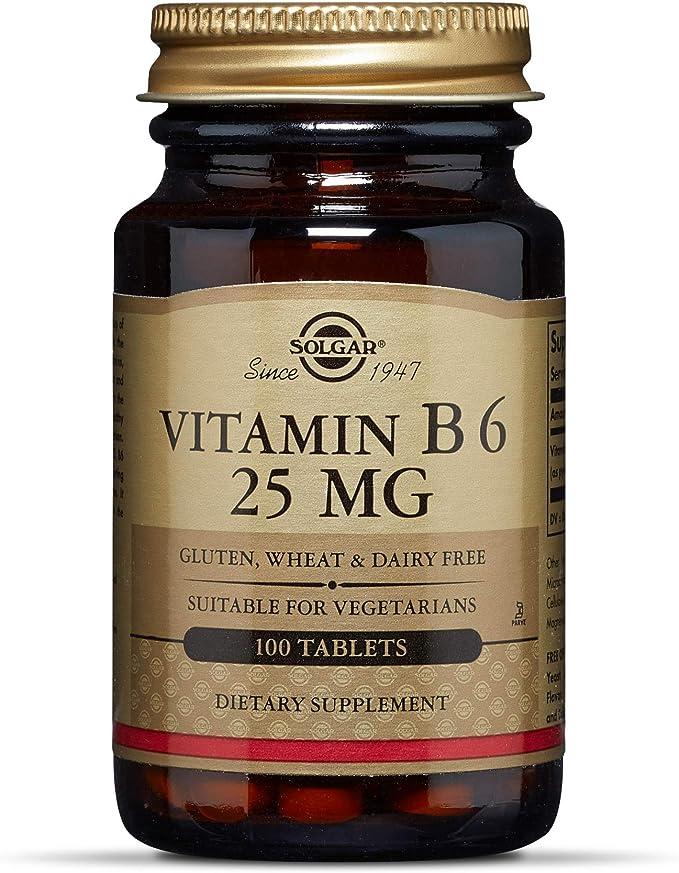 Amazon Com Solgar Vitamin B6 25 Mg 100 Tablets Health Personal Care