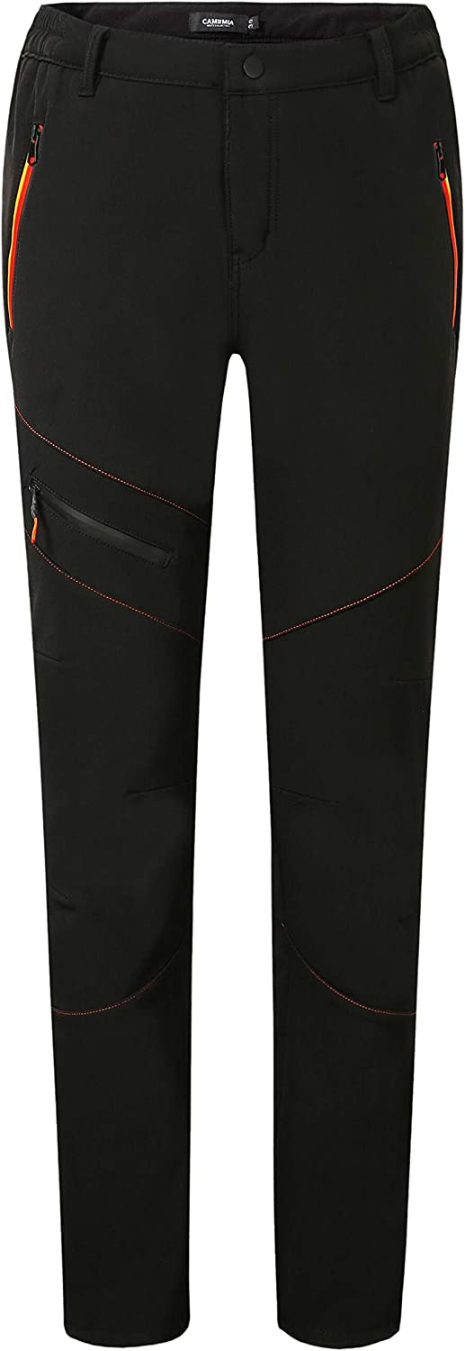 Camii Mia Women's Windproof Waterproof Sportswear Outdoor Hiking Fleece Pants